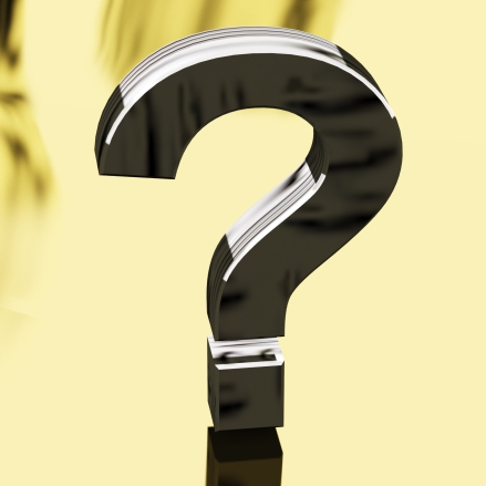 Silver Question Mark Representing Faqs Or Support
